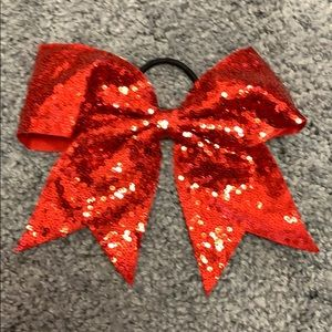 Red sequin hair bow!